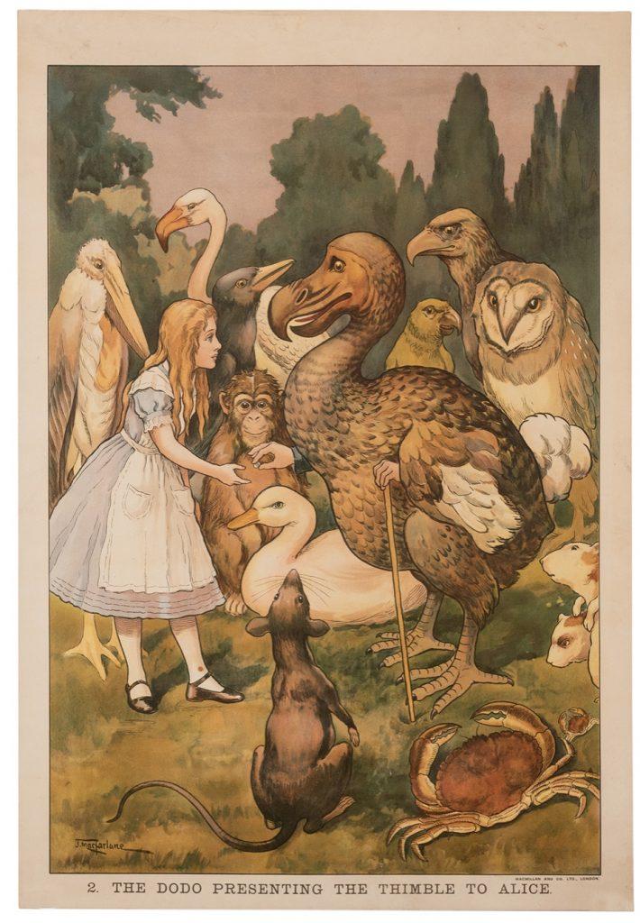 Macmillian's Colored Wall Illustration. Alice in the Wonderland. No. 2
