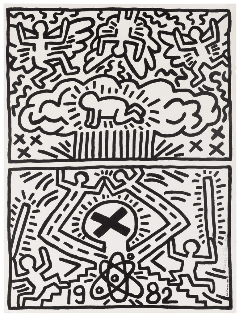 Haring  Nuclear Disarmament Poster