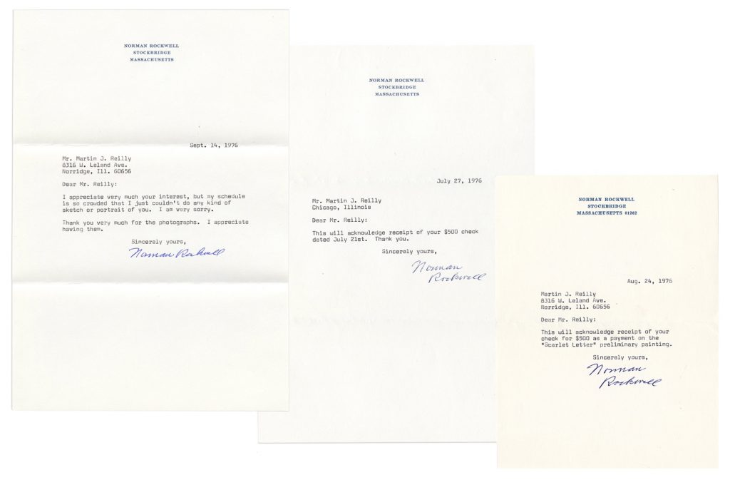 Norman Rockwell Typed Letters Signed