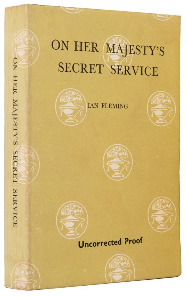 On Her Majesty's Secret Service, uncorrected proof