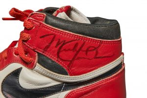 Sotheby's sets new Auction record with $560,000 Pair of Michael Jordan's game-worn Air Jordan 1s from 1985