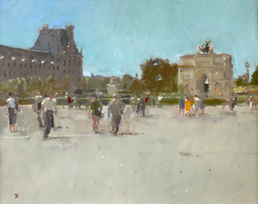 Louvre, Paris Hot and Sizzly by Thomas Coates. Photo from Cross Gate Gallery.