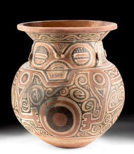 Large Marajoara Ceramic Decorated Urn, ex-Eugene Lions