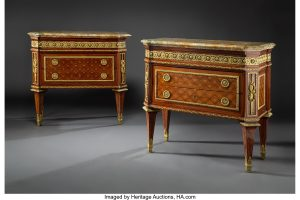 Rare Flora Danica Flatware Service and an exceptional pair of French Commodes Among Top Draws in Heritage Fine Furniture & Decorative Art Auction