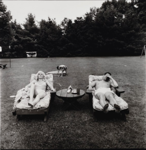 Family on their lawn one Sunday in Westchester, N.Y., 1968 by Diane Arbus. Photo by Christie's.