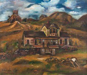 Paul Burlin (American, 1886-1969) Houses in the Hills, 1936