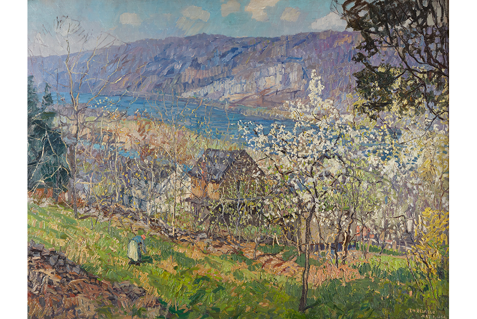 Edward W. Redfield (American, 1869-1965), Spring at Point Pleasant on the Delaware River. Estimate: $300,000-500,000.