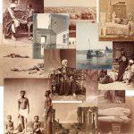 Group antique photos ancient Egypt, Africa
