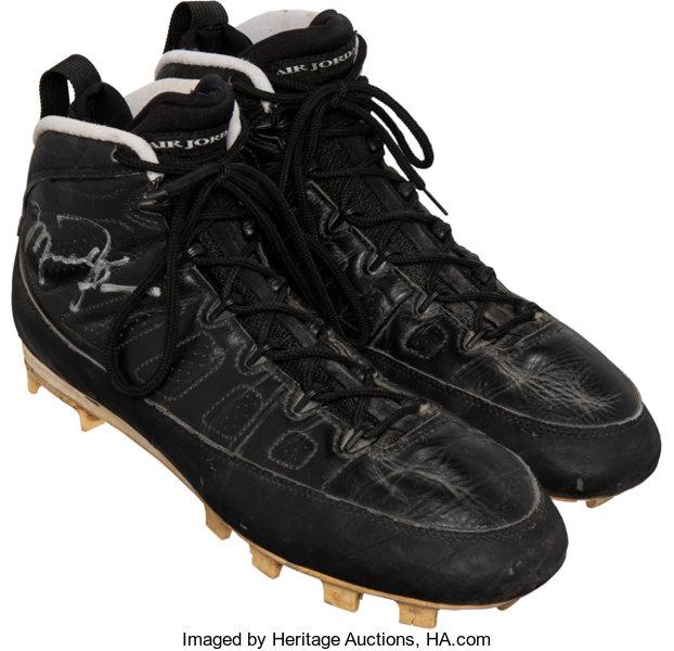 1994 Michael Jordan Game Worn & Signed Birmingham Barons Air Jordan Cleats - With Player Provenance!