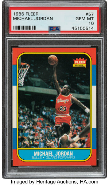 1986 Fleer Michael Jordan #57 PSA Gem Mint 10.