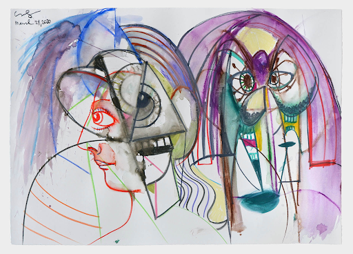 George Condo, Together and Apart, 2020. Image from Hauser & Wirth.