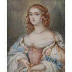 A FRAMED PORTRAIT MINIATURE OF HENRIETTE D'ANGLETERRE