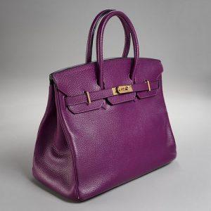 Hermès 35cm Anemone Togo leather Birkin bag
