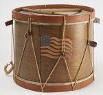 19h Century Flag Drum w-Drum Sticks
