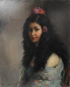 F R Sánchez Clement - Portrait of Spanish Dancer