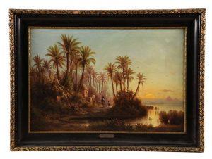 ALBERT REIGER (AUSTRIAN, 1834 - 1905) ON THE NILE.