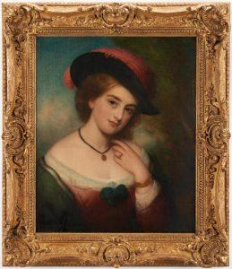 Portrait of a Lady, attrib. to Charles Baxter