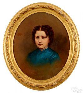 Pennsylvania oil on canvas portrait