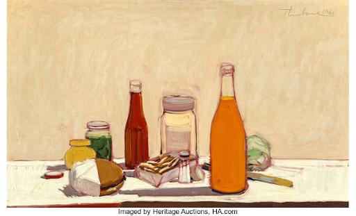 Wayne Thiebaud, Orange Drink, 1961 Courtesy: Heritage Auction