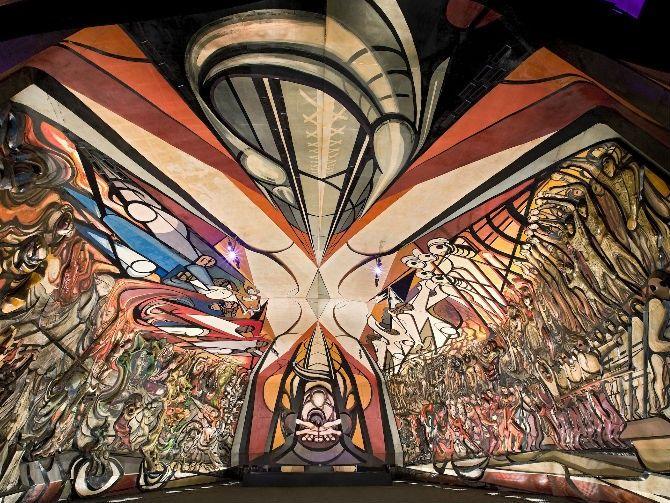 David Alfaro Siqueiros, La Marcha de la Humanidad en la Tierra y Hacia el Cosmos (The March of Humanity on Earth and Toward the Cosmos), 1971. Image from Mundo del Museo.