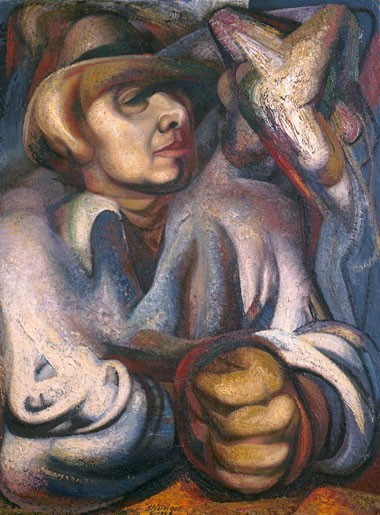 David Alfaro Siqueiros, Self-Portrait, 1948. Image from the National Gallery of Art.