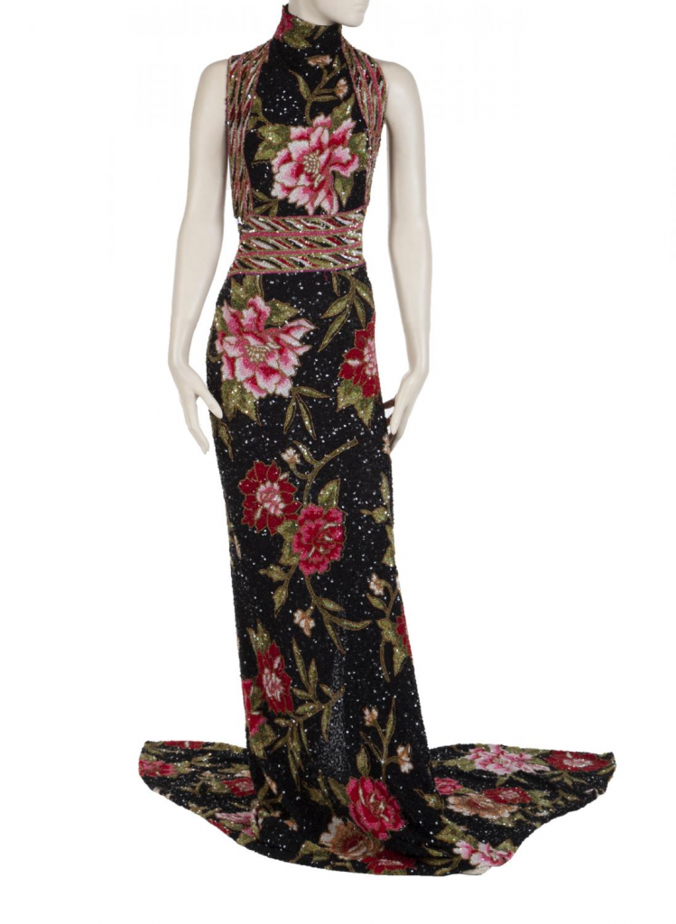 Whitney Houston's 2004 embellished stage-worn gown. Image from Julien's Auctions