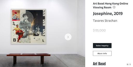 Josephine by Tavares Strachan, provided by Marian Goodman in the Art Basel Online Viewing gallery.