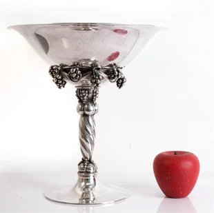 Georg Jensen Large Sterling Grape Compote 264A available in Gallery 63's June 28th estates auction. Photo courtesy of the auction house.