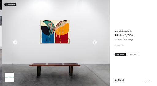Fergus McCaffrey's gallery in Art Basel's online viewing room. Photo by Fergus McCaffrey.