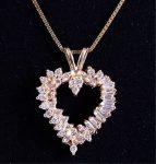 10K-14K Gold & Diamond Heart Pendant