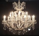 Palatial 24-Light Crystal Chandelier