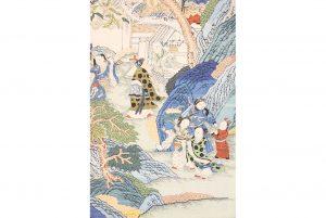 A global bidding festival Sworders Asian art sale topped by £21,000 Qing silk scroll