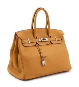Hermes Natural Sable Clemence Birkin Handbag, 2008