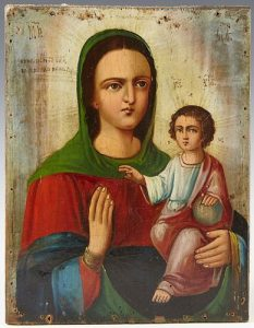 Russian Icon of the Mother of God, 19th c., oil on panel, unframed