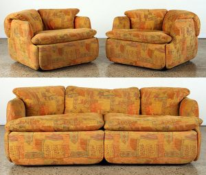 THE CONFIDENTIAL BY ALBERTO ROSSELLI SOFA CHAIRS