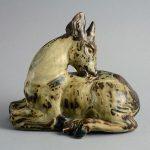 Mid-Century Modern Sculpture of Deer by Knud Kyhn