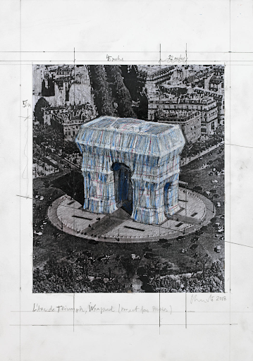 Christo, L'Arc de Triomphe (Project for Paris), 2018. Image from Christo and Jeanne-Claude.