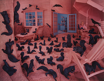 Sandy Skoglund, Gathering Paradise, Cibachrome print, 1991. Estimate $15,000 to $25,000.