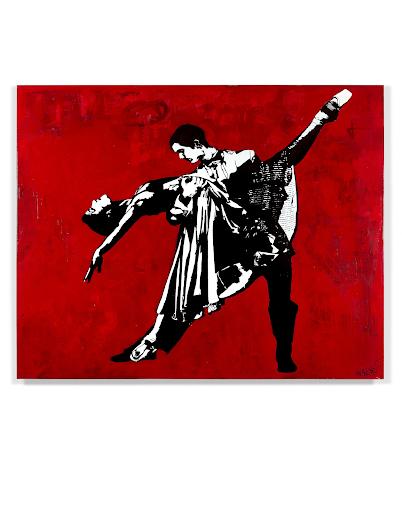 Blek le Rat, The Last Tango à Paris, 2016. Image from Artcurial.