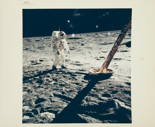 Photo of Buzz Aldrin walking on the moon available in this Julien's Auctions event. Picture courtesy of the auction house.