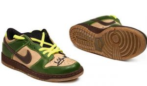 Nike Dunk SB Low Jedi - 2004 - Signed by Mark Hamill on Right Shoe, Signed by Mark Hamill as Luke Skywalker on Left Shoe