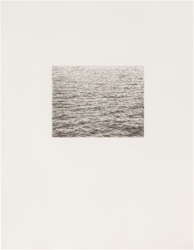 Vija Celmins, Ocean Surface, 1983. Image from Los Angeles Modern Auctions.