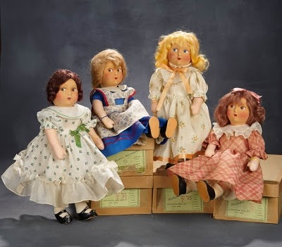 Little Women doll set. Photo courtesy of Theriault's Antique Doll Auctions.