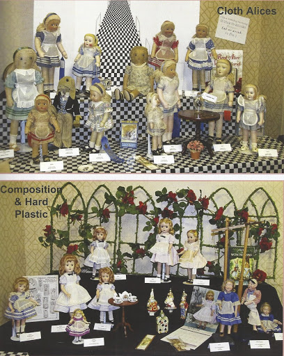 Display from the 2015 Madame Alexander Club Convention. Photo by Pat Burns, editor of The Madame Alexander Club's The Review magazine.