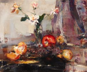 Oil on canvas still life painting by Russian artist Nicolai Fechin (1881-1955) brings $262,500 at Andrew Jones Auctions