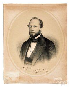 William M. Boss Tweed, signed portrait