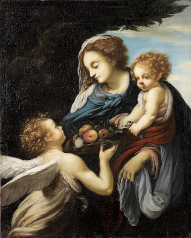 The Madonna and Child With an Angel by Giovanni Battista Vanni. Photo from Bonhams.