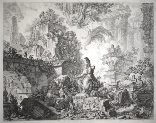 Vedute di Roma (3rd State) by Giovanni Battista Piranesi. Photo from R. S. Johnson Fine Art.