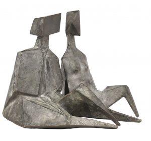 Lynn Chadwick Bronzes 'Pair of Sitting Figures II
