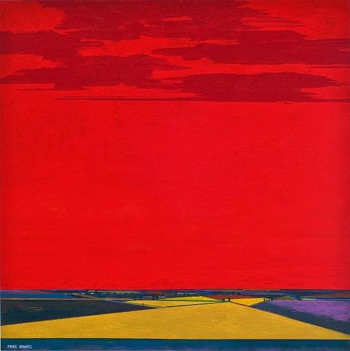 Lot 233, Mark Bowles, Summer Heat 2020. Acrylic on canvas, 48 x 48 in.